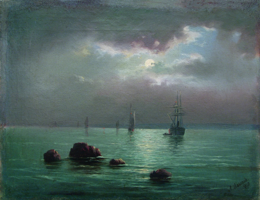 Lev Feliksovich Lagorio. The sunset over the Bay