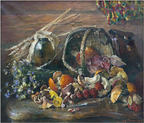 Sergey Anatolyevich Kostylev (Uralsky). Still life with mushrooms