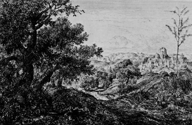 Charles-Francois Daubigny. Views of Subiaco