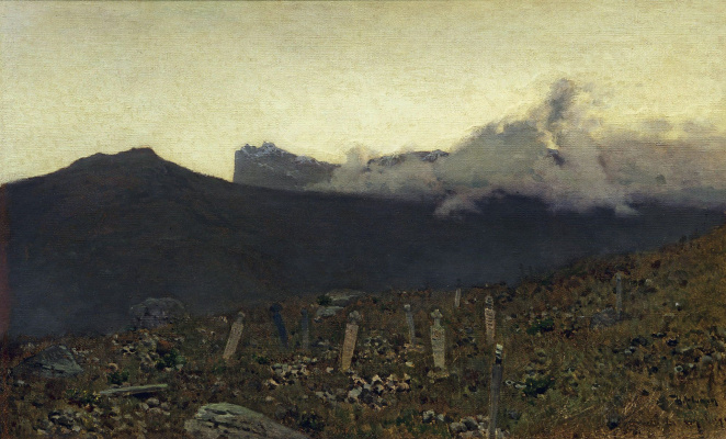 Исаак Ильич Левитан. Татарское кладбище. Крым