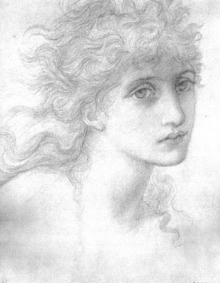 Edward Coley Burne-Jones. Maria Zambako. Sketch