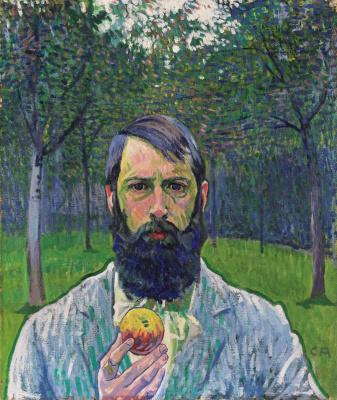 Куно Амье. Автопортрет с яблоком