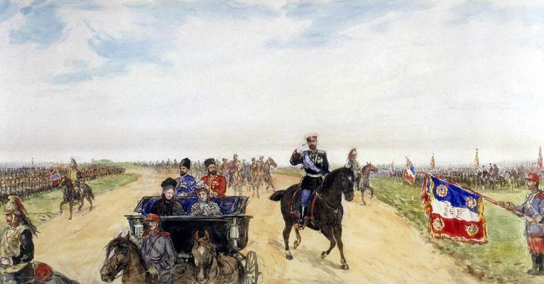Павел Яковлевич Пясецкий. Императорский кортеж по дороге к укреплению Бетени