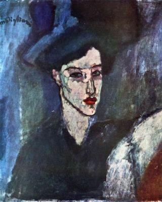 Амедео Модильяни. Портрет еврейской девушки в черной шляпе