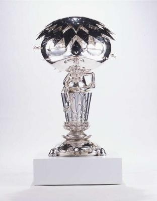 Takeshi Murakami. Oval silver Buddha