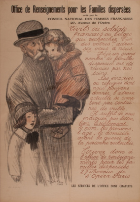 Theophile-Alexander Steinlen. Management office gather information on separated families