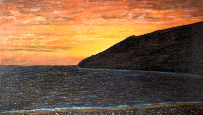 Arnold Gerontidi. Sunset on the Black Sea