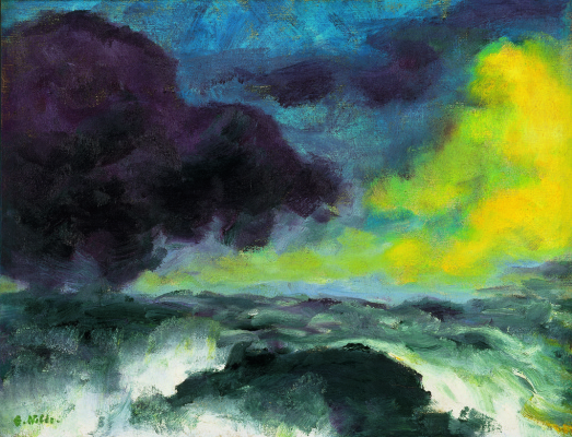 Emil Nolde. The waves of the sea