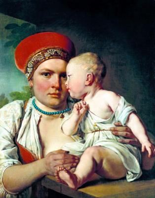 Alexey Gavrilovich Venetsianov. The nurse with the child