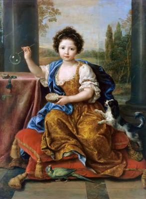 Pierre Minyar. Portrait of Maria Anne de Bourbon (bubbles)