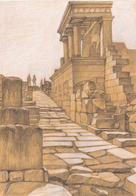 Irina Soboleva. The Western gate of the Palace of Knossos