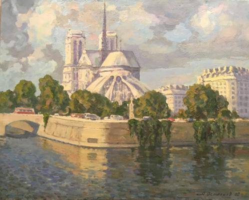 Анатолий Александрович Острецов. Париж. Сена