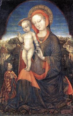 Якопо Беллини. Мадонна с младенцем
