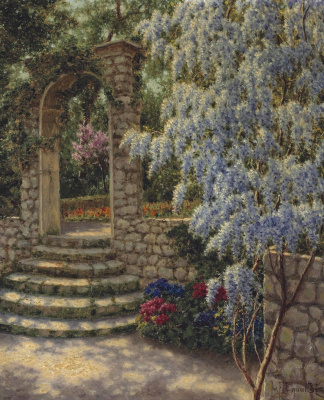 Ivan Fedorovich Schultze. Wisteria in a Sunny bunnies
