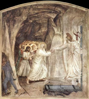 Фра Беато Анджелико. Сошествие во ад. Фреска монастыря Сан Марко, Флоренция