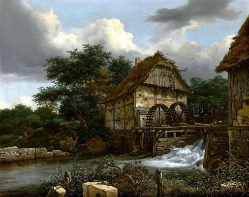Jakob van Isaacs Ruisdael. Water Mill
