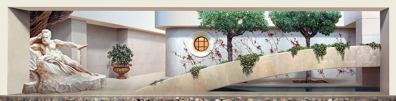 John Pugh. Easy walk (mural of the Palo Alto Cancer Center)