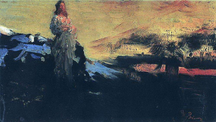 Ilya Efimovich Repin. Follow me, Satan!