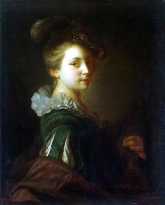 Алексис Гриму. Молодая женщина в театральном костюме