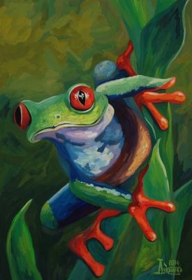 Larissa Lukaneva. Tree frog