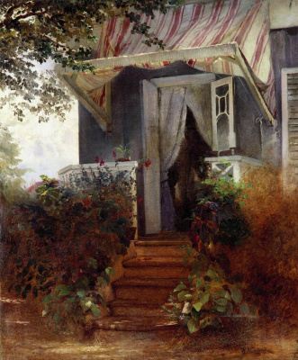 Konstantin Makovsky. On the porch