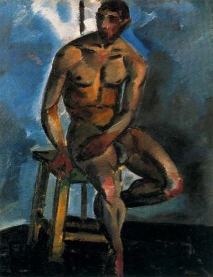 Love Sergeevna Popova. A naked man