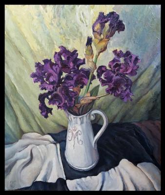 Olga Ray. Натюрморт Ирисы