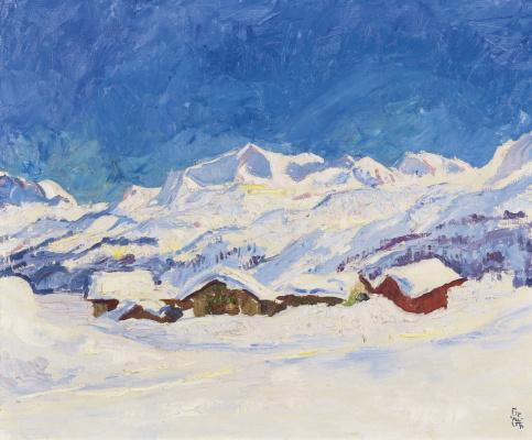 Giovanni Giacometti. Winter landscape, Maloja