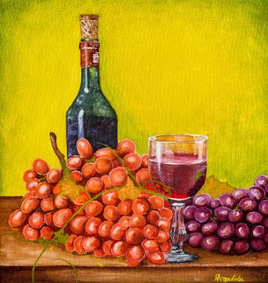 Arina Yuryevna Yastrebova. Wine still life
