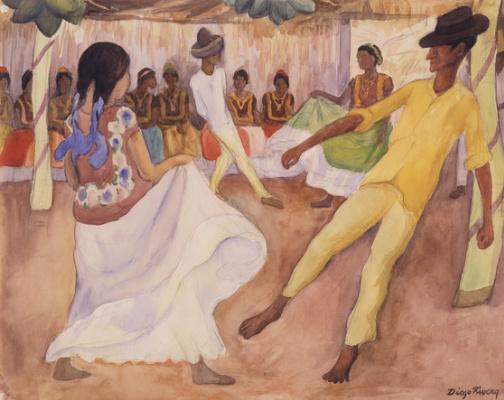 Диего Мария Ривера. Танцы в Теуантепеке