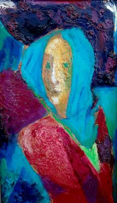 Victor Fedorovich Chudin. In a blue scarf