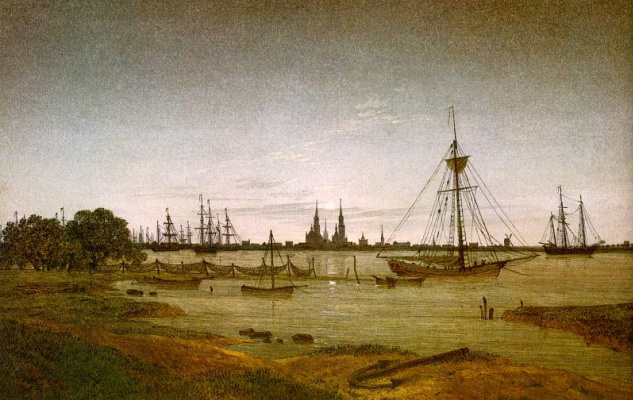 Caspar David Friedrich. Ships