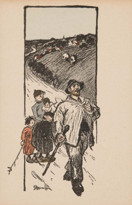 Theophile-Alexander Steinlen. Family outing