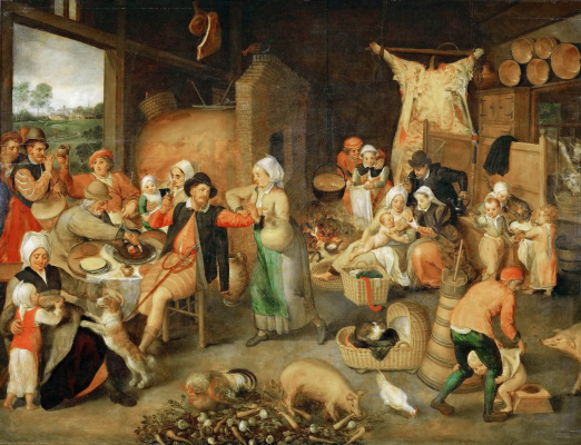 Martin van Cleve. Flemish interior