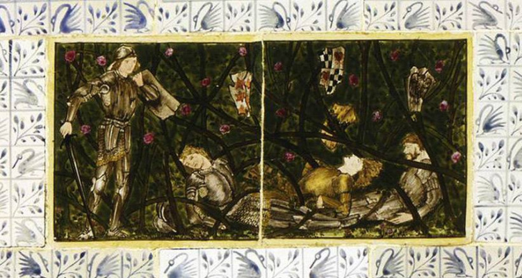 William Morris. Sleeping Beauty (Together with Edward Burne-Jones). Panel 5