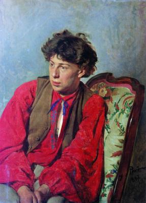 Илья Ефимович Репин. Портрет В.Е. Репина, брата художника, впоследствии музыканта