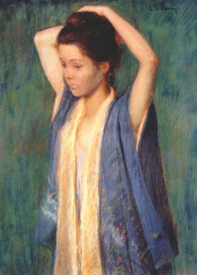 Перри. Ребенок в кимоно
