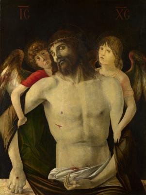 Джованни Беллини. Мертвого Христоса поддерживают ангелы