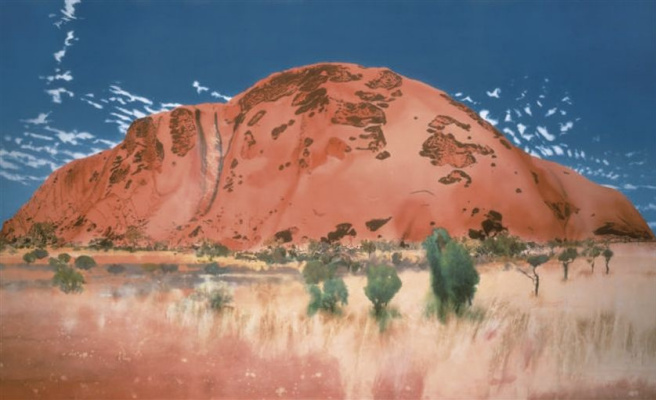 Michael Andrews. The Cathedral, the North East face/Uluru (Ayers rock)