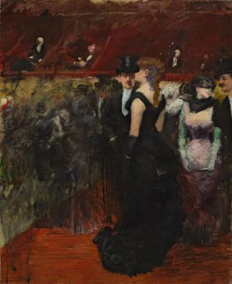 Jean-Louis Foren. Ball at the Paris Opera