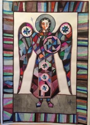 Igor Vasilyevich Kislitsyn. Angel on gray manure