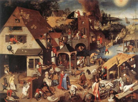 Peter Brueghel The Younger. Flamande Proverbs