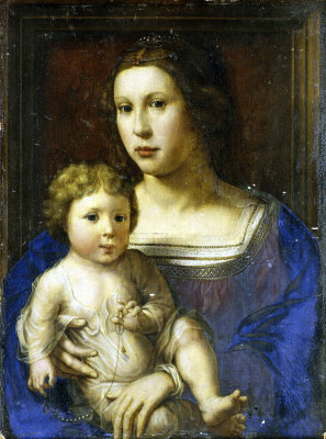 Ян Госсарт. Мадонна с Младенцем
