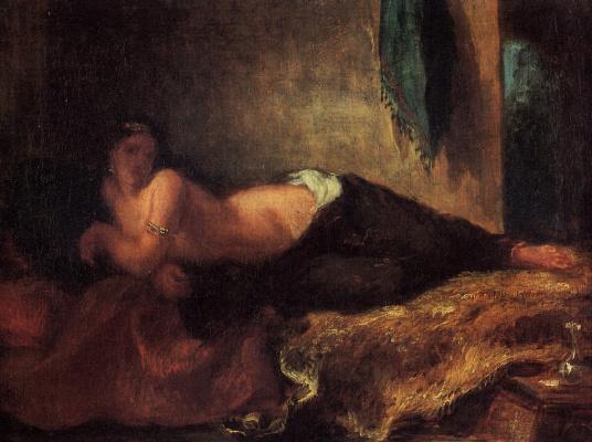 Eugene Delacroix. Odalisque