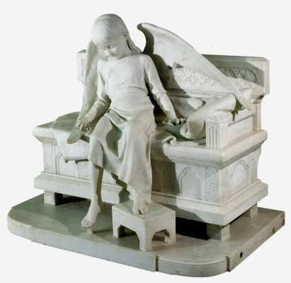 Mark Matveyevich Antokolsky. The sleeping angel. Tombstone O. I. Tereshchenko. Marble variant from a plaster model of 1888, held in the research Museum of the Russian Academy of arts