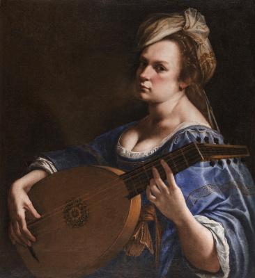 Artemisia Gentileschi. Self-portrait with lute