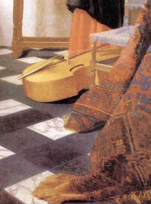 Jan Vermeer. A music lesson. Fragment