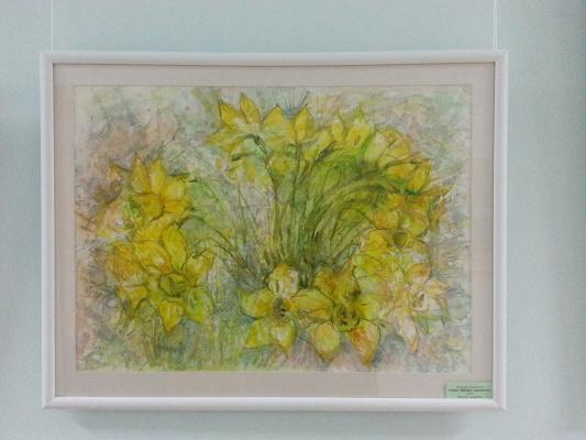 "Natalia Gennadievna Torlopova. Daffodils. A series of ""Spring flowers"""
