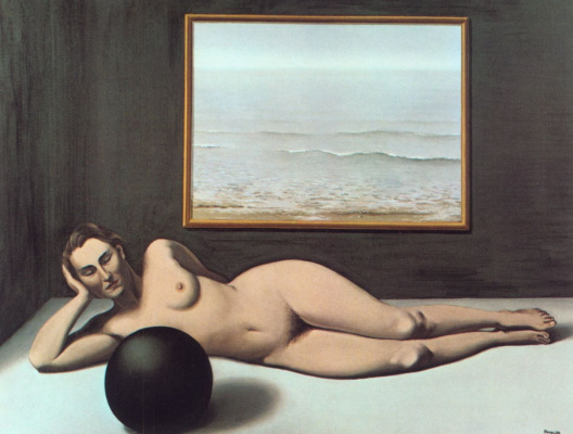 René Magritte. Bather between Light and Darkness