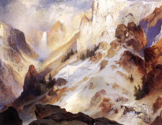 Thomas Moran. Rocks